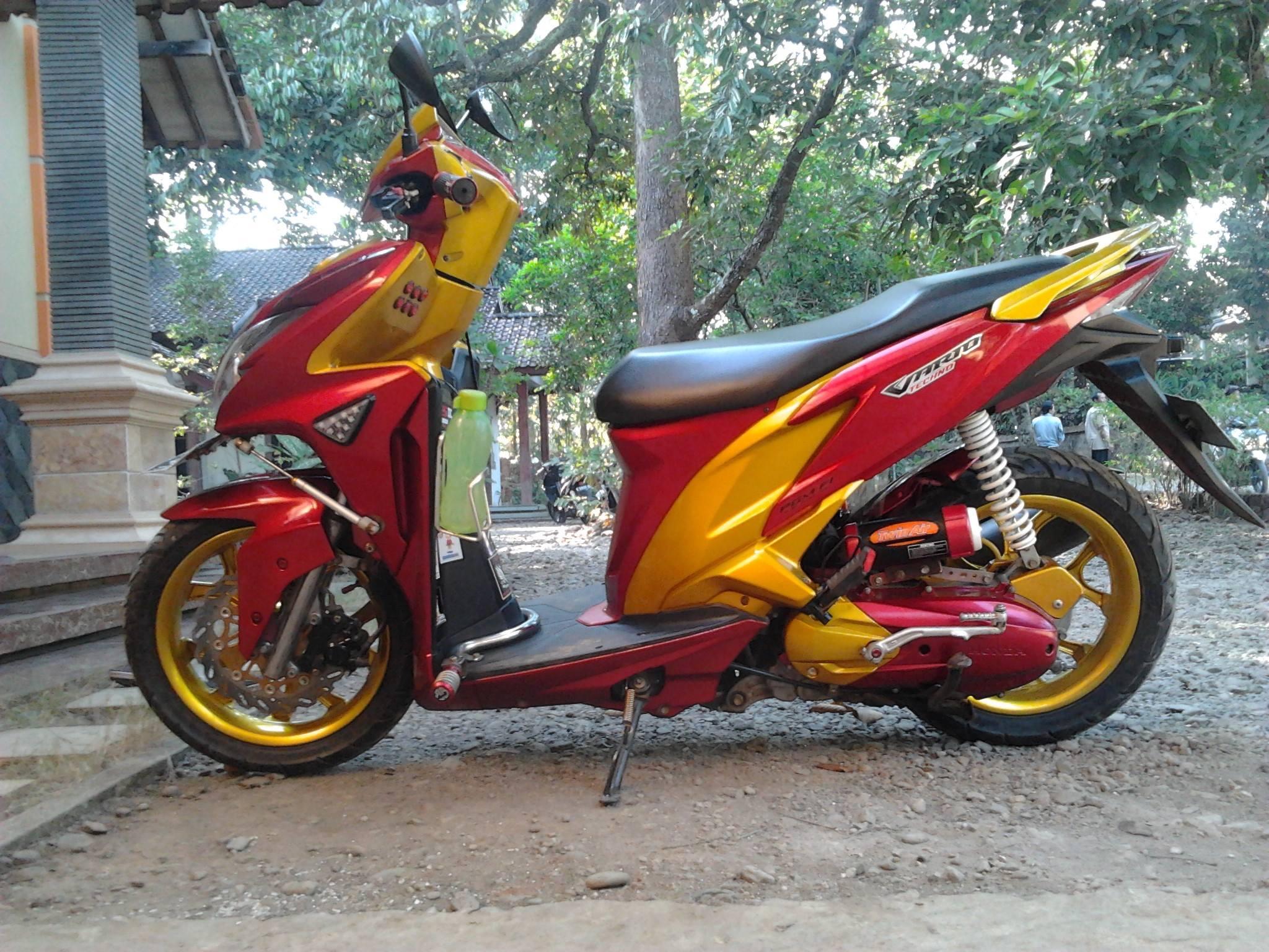 88 Modifikasi Motor Vario 125 Warna Merah Terbaru Dan Terlengkap
